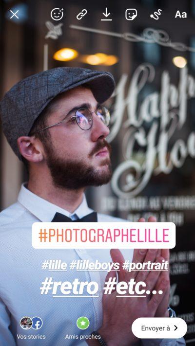 Sticker hashtag instagram